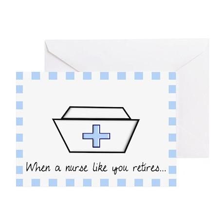 retired nurse card 1 Greeting Card