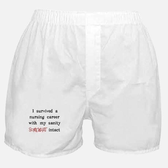 retired nurse t-shirts sanity intact Boxer Shorts