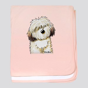 Shih Tzu Caricature baby blanket