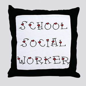 School SW Hearts Throw Pillow