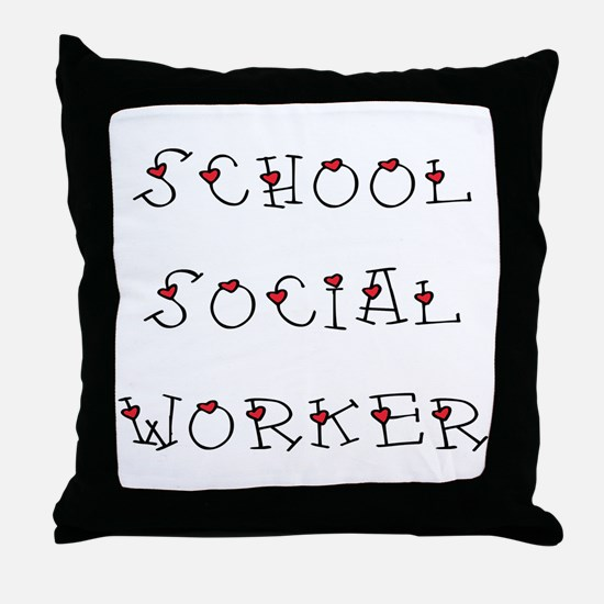 School SW Hearts Throw Pillow