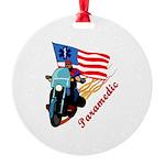 paramedic biker Round Ornament