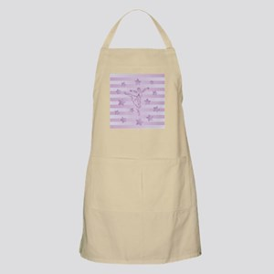 Cute pink lilac ballerina and stars Apron