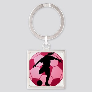 soccer ball(woman) Square Keychain