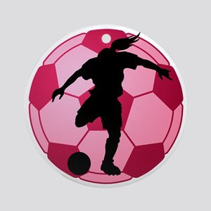 soccer ball(woman) Ornament (Round)