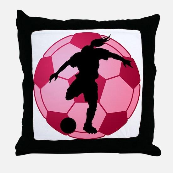 soccer ball(woman) Throw Pillow