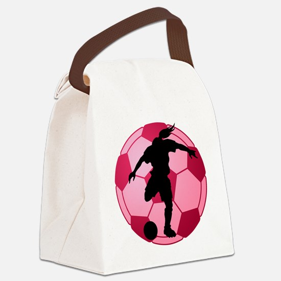 soccer ball(woman) Canvas Lunch Bag