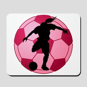 soccer ball(woman) Mousepad