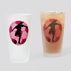 soccer ball(woman) Drinking Glass