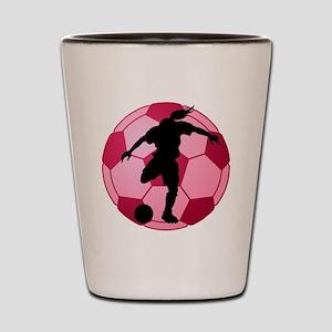 soccer ball(woman) Shot Glass