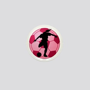 soccer ball(woman) Mini Button