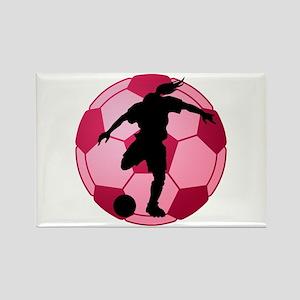 soccer ball(woman) Rectangle Magnet