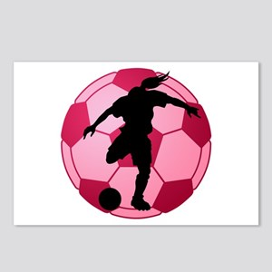 soccer ball(woman) Postcards (Package of 8)