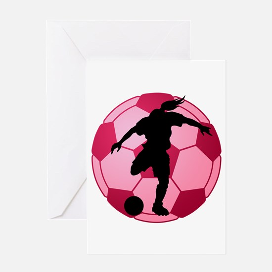 soccer ball(woman) Greeting Card