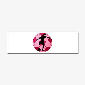 soccer ball(woman) Car Magnet 10 x 3