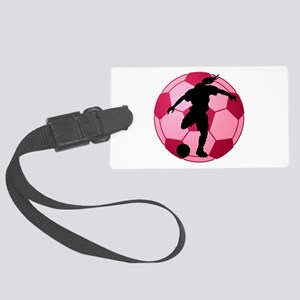 soccer ball(woman) Large Luggage Tag