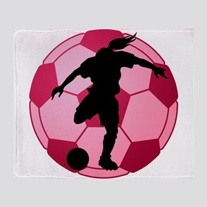 soccer ball(woman) Throw Blanket
