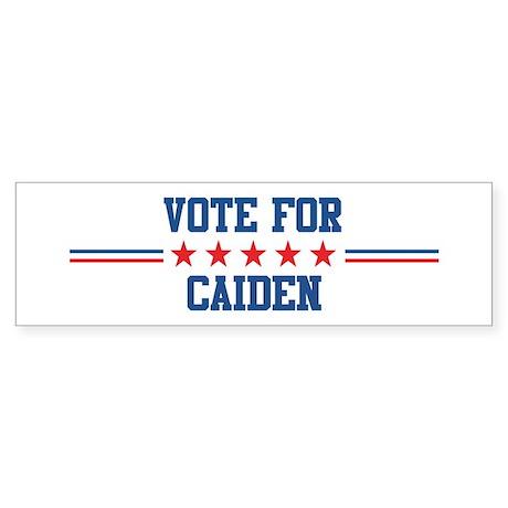 Vote for CAIDEN Bumper Sticker