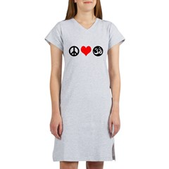 Peace Love Yoga Women's Nightshirt