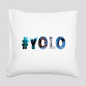 #YOLO Square Canvas Pillow