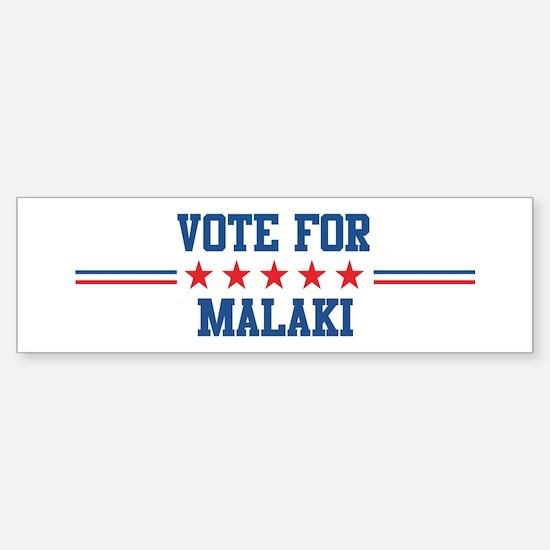 Vote for MALAKI Bumper Car Car Sticker