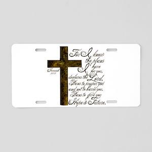Plan of God Jeremiah 29:11 Aluminum License Plate