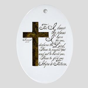 Plan of God Jeremiah 29:11 Ornament (Oval)
