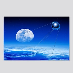 Sputnik 1 satellite, composite image - Postcards