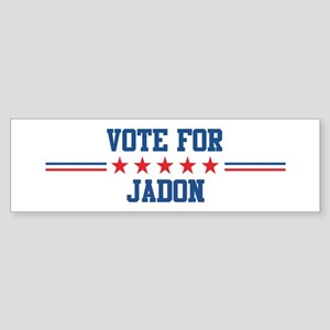 Vote for JADON Bumper Sticker