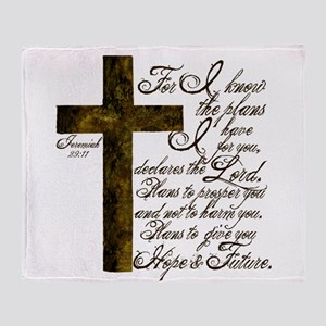 Plan of God Jeremiah 29:11 Throw Blanket