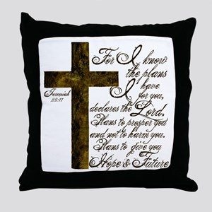 Plan of God Jeremiah 29:11 Throw Pillow