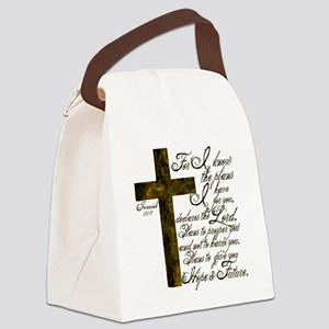 Plan of God Jeremiah 29:11 Canvas Lunch Bag