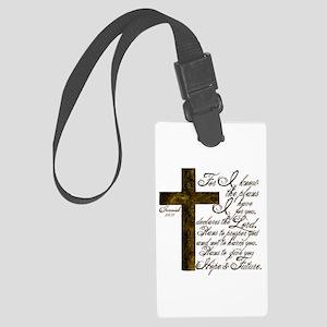 Plan of God Jeremiah 29:11 Large Luggage Tag