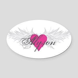 My Sweet Angel Alyson Oval Car Magnet