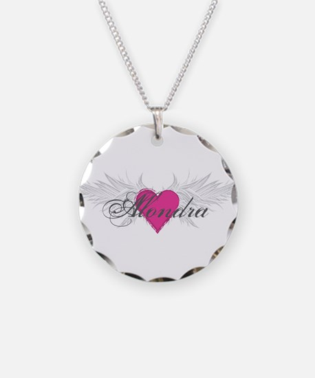 My Sweet Angel Alondra Necklace Circle Charm