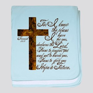 Plan of God Jeremiah 29:11 baby blanket