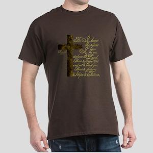 Plan of God Jeremiah 29:11 Dark T-Shirt