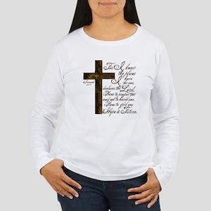 Plan of God Jeremiah 29:11 Women's Long Sleeve T-S