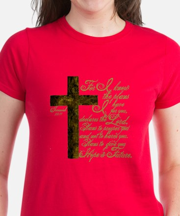 Plan of God Jeremiah 29:11 Women's Dark T-Shirt