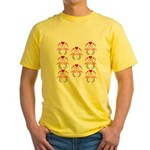 Flamingos In Love Yellow T-Shirt
