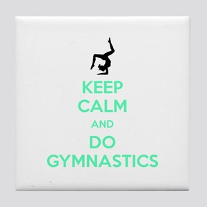 keep calm and do gymnastics Tile Coaster