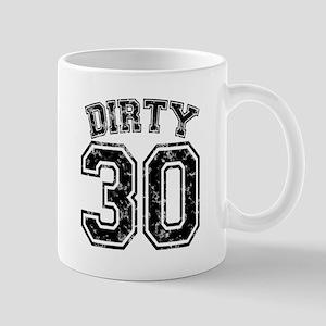 Dirty 30 Marbled 1 Mug