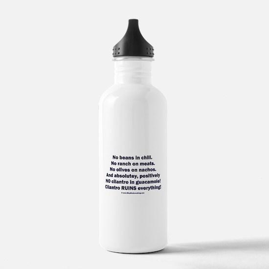 Stop Cilantro! Stop Perversion! Water Bottle