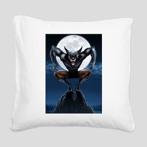 Werewolf Square Canvas Pillow