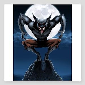 "Werewolf Square Car Magnet 3"" x 3"""