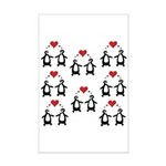 Penguins In Love Mini Poster Print