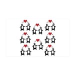 Penguins In Love 35x21 Wall Decal