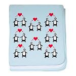 Penguins In Love baby blanket