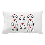 Penguins In Love Pillow Case