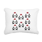Penguins In Love Rectangular Canvas Pillow